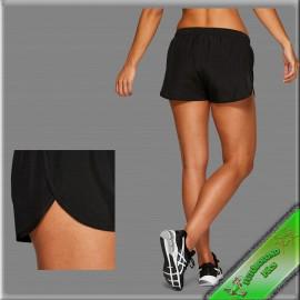 """Asics női rövidnadrág kerekített szárú fekete """"SPLIT SHORT"""""""