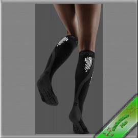 CEP kompressziós futózokni női fekete /nighttech/