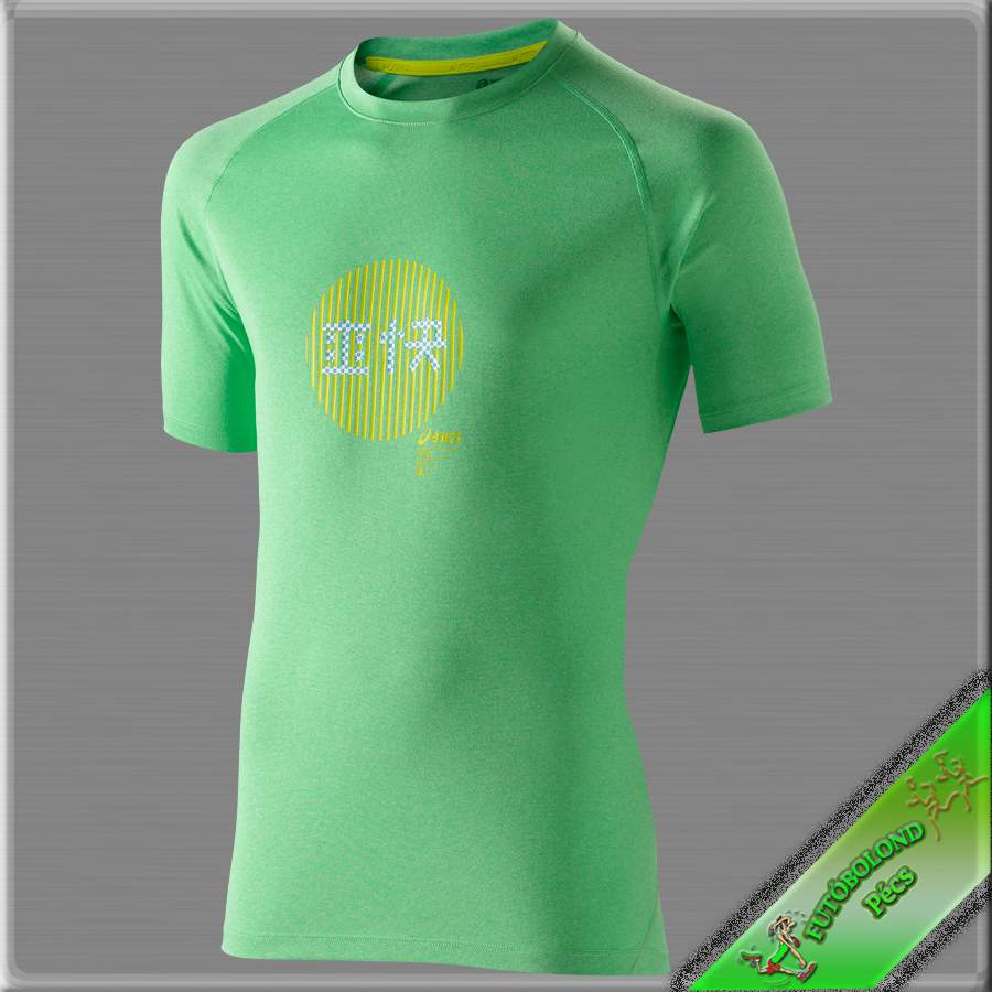 Asics férfi rövid ujjú póló /zöld/