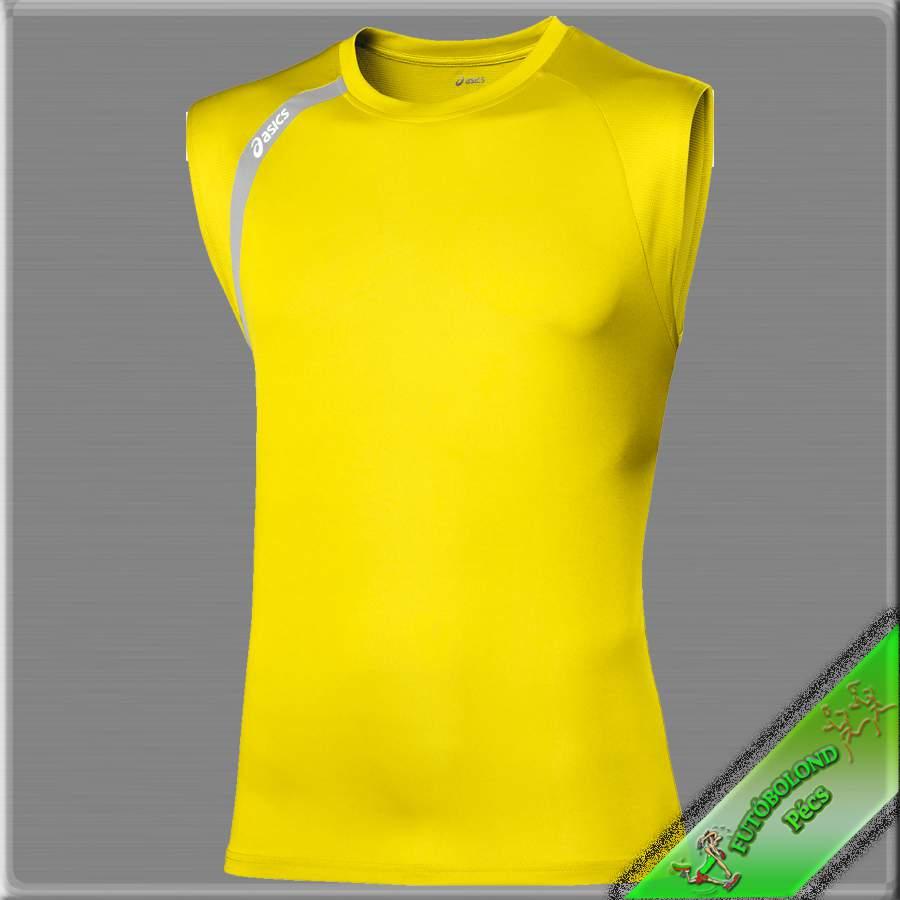 Asics férfi ujjatlan póló /sárga/