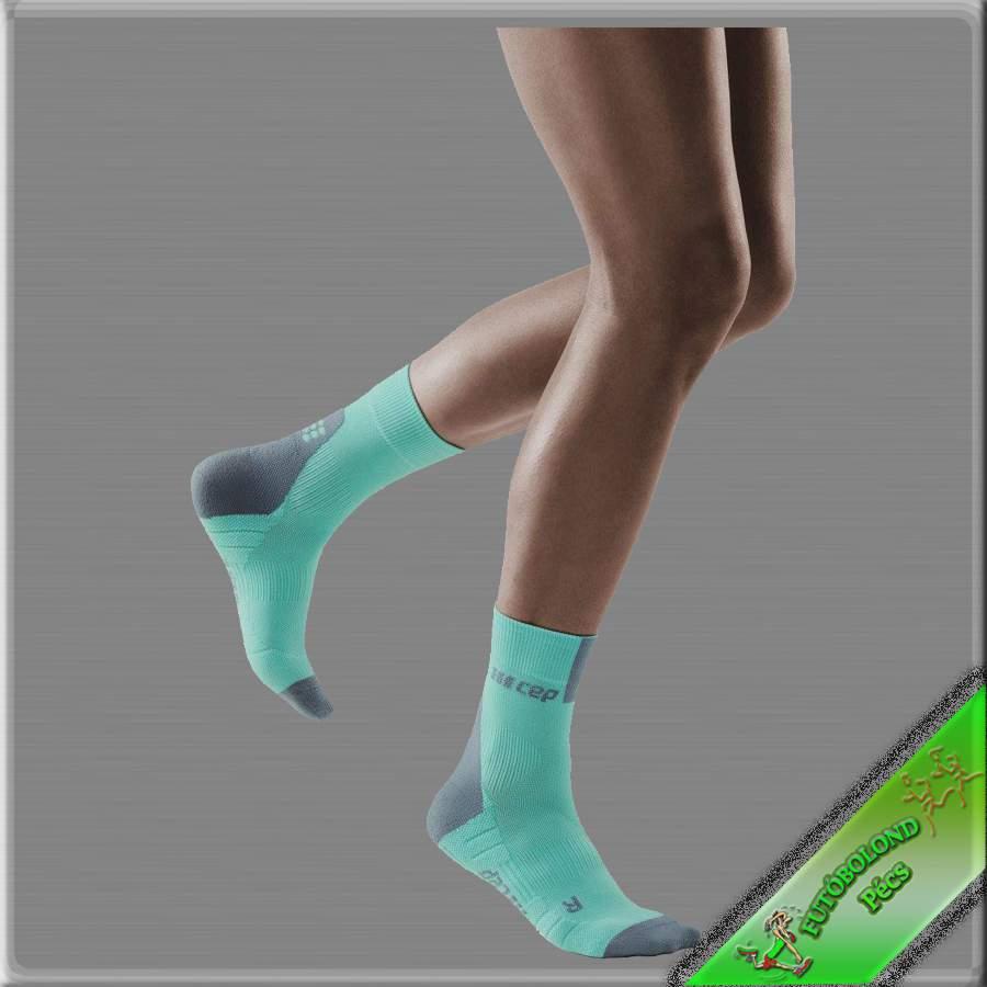 CEP kompressziós rövidszárú  futózokni női kék-szürke