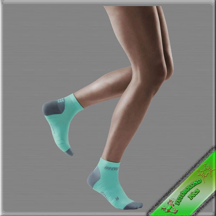 CEP kompressziós bokazokni női kék-szürke