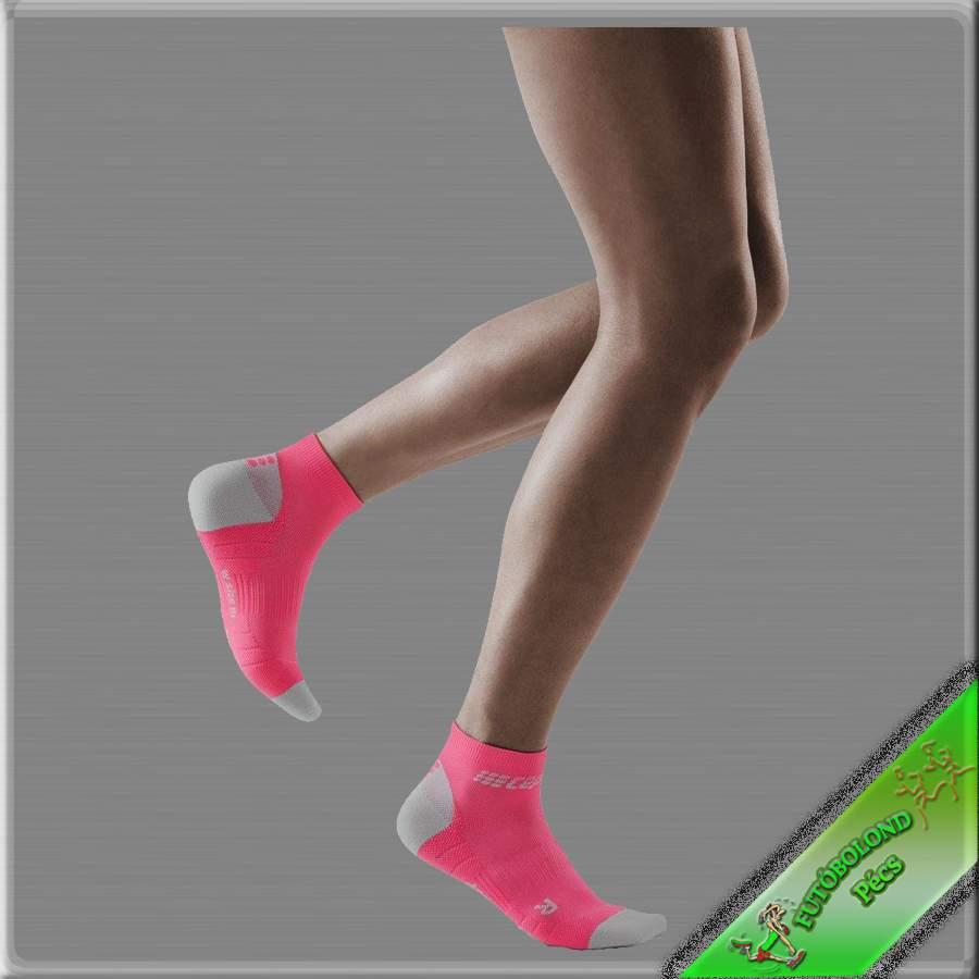 CEP kompressziós bokazokni női pink